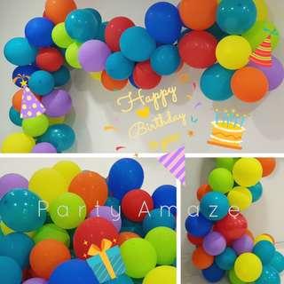 CARRIBEAN Teal Balloon Garland Set