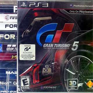 PS3 Gran Turismo 5 GT Sony PlayStation SCE Racing Games