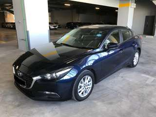 Latest Mazda 3 Model Available For Rental!! Grab / Long Term Personal Usage Welcome!