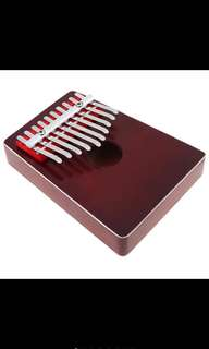 10 Key Kalimba Pine Thumb Piano Mbira Mini Keyboard with tone Sticker