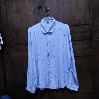 Pattern Shirt / Kemeja Lunart Stripe Blue