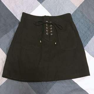 🚚 綁帶麂皮短裙❤️