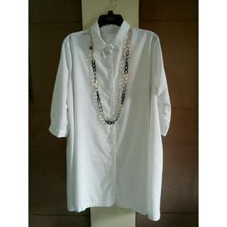 CARDIGAN / Dress white