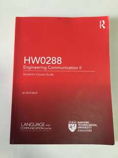 HW0288 Engin Comm 2 Textbook