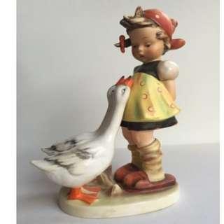 """Goebel Hummel Figurine """"Goose Girl"""""""