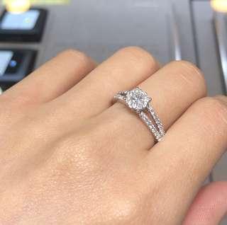 18K白金鑽石戒指💍送禮自用👍🏻👍🏻