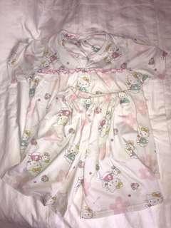 hello kitty pajamas lucu baju tidur