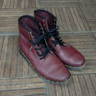 Red Cherry Dr Martens Boots
