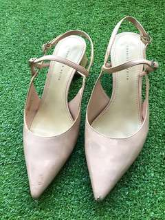 Charles and Keith baby pink shoe