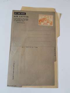 1949 Malaya Singapore Air mail letter - unused