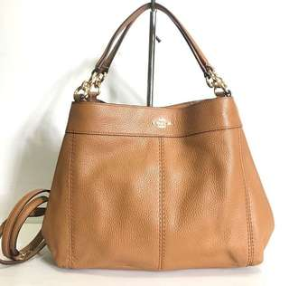 Coach lexy small longstrap sz 28x24 light saddle