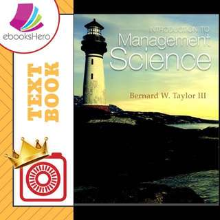 Introduction to Management Science by Bernard W. Taylor III