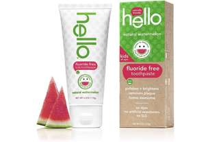 [IN-STOCK] Hello Oral Care Kids Fluoride Free Toothpaste - Natural Watermelon - 4.2 Ounce