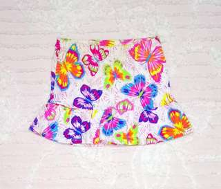 """""""Place"""" Butterfly Print Skirt"""