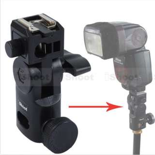 iShoot Flash Bracket/Umbrella Holder IS-GII with Metal Hot Shoe Mount