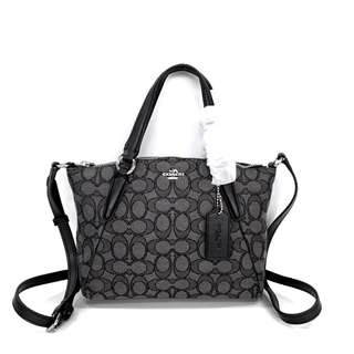 Authentic COACH Kelsey Mini in Signature - Black Grey