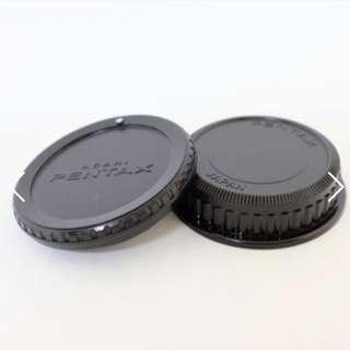 ORIGINAL Asahi Pentax Rear Lens Cap + Body Cap (New Old Stock)