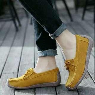 Sepatu wanita flat shoes wanita tan
