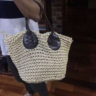 NEW weaved tote
