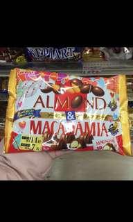Almond and Macadamia meiji Chocolate Sweets