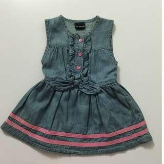 Ribbon Jeans Dress