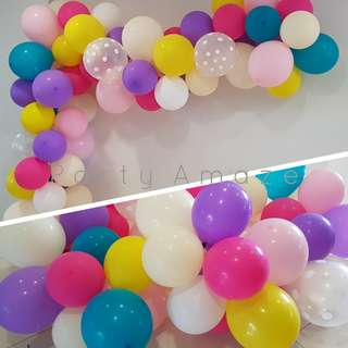LAVENDER Frost Balloon Garland Set