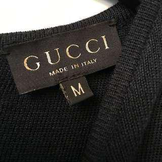 正品Gucci 針織洋裝(深藍)