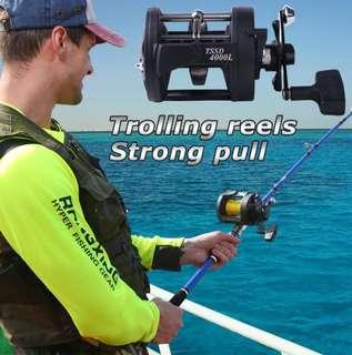 💥Last 02 set only💥TSUNAMI Trolling Reel Fishing TSSD 4000L Black Right Hand Casting Sea Fishing Reel Saltwater Baitcasting Reel Coil