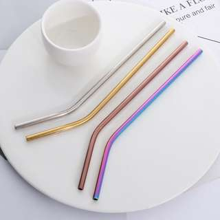 COLORED Stainless Steel Straws (Regular size)