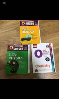 Various Subjects Olevel TYS