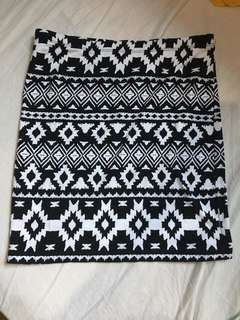 H&M Aztec Pencil Skirt