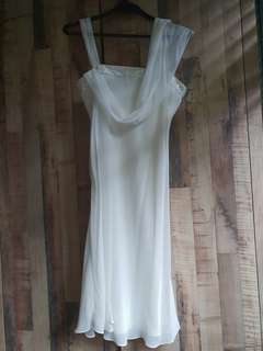 Daniel Yam white evening dress