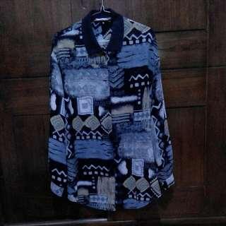 Pattern Shirt Vintage Turun Harga