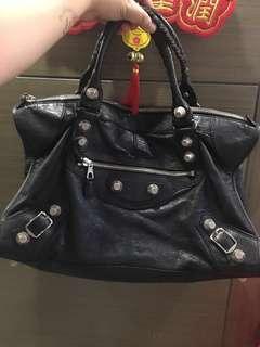 Balenciaga 巴黎世家 銀色大釘Work Size Bag (可上膊 手挽)