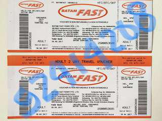 NONGSA/HARBOUR BAY PROMO SALE BATAM FAST FERRY TICKETS (ETICKETS)