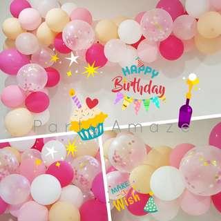 PINK Lemonade Balloon Garland Set