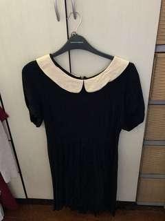 Dark blue babydoll dress