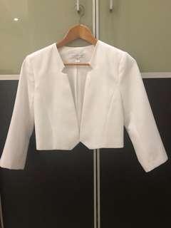 Pre loved Forever New white blazer size UK 6