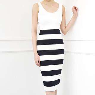Doublewoot Midi Striped Dress
