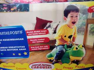Carousel fun bike frog
