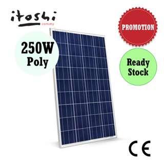 250W Solar Panel Poly Cell Grade A Solar Power System