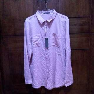 Kemeja Pink / Pink Shirt Turun Harga