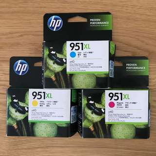 HP Ink Cartridge 951XL Cyan, Megenta, Yellow
