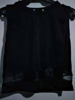 Black Top with Sheer detail
