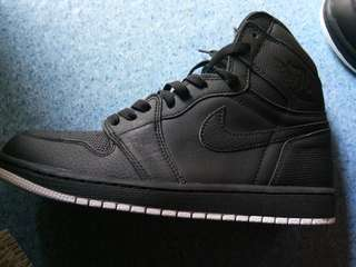 air jordan 1 retro high Og perforated black with white outsole