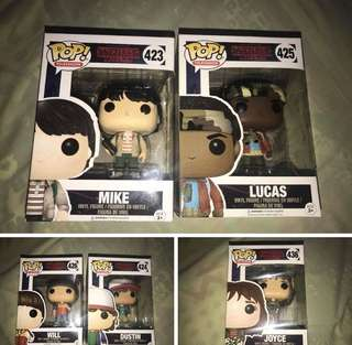 Stranger things pop vinyls