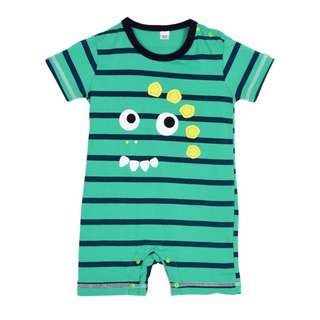 Little Green Dino Romper
