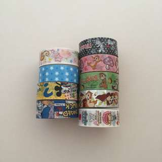 [9 at $5 mailed] Cute Cartoon Tapes