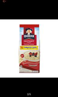 Quaker outmeal instant 800g+200g=1000g