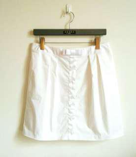 #半價衣服拍賣會【面試上班】白色優雅蝴蝶結短裙